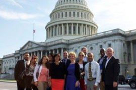 Goodwill staff on US Capitol steps