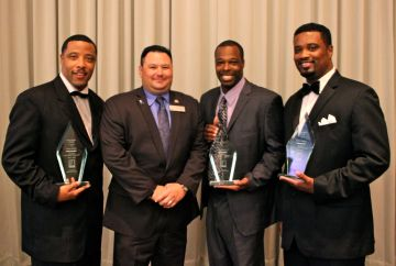 Carlos Hunter, Goodwill instructor Brian Otto, Theotis Hancock and Robert Hunter