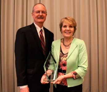 Goodwill CEO Michael Elder with Julie Burch, Assistant City Manager for the City of Charlotte