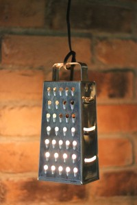 4 Cheese Grater Pendant Light