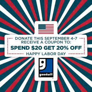 Goodwill 20 off coupon august 2018