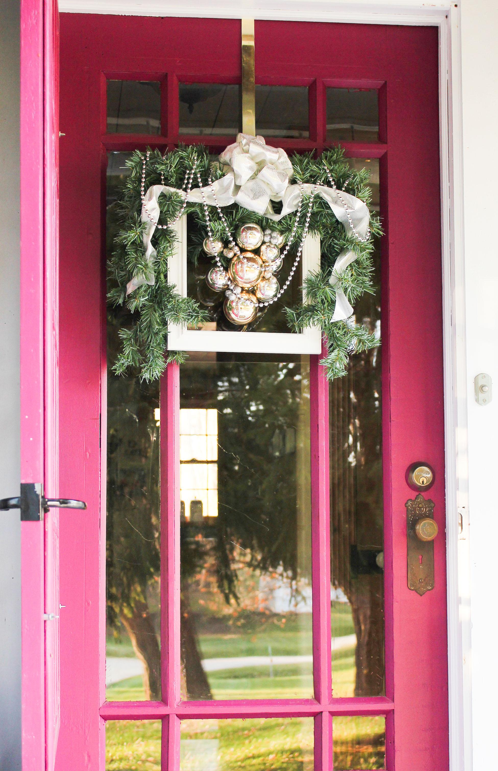 How to Create a DIY Christmas Frame Wreath | Wow! Goodwill