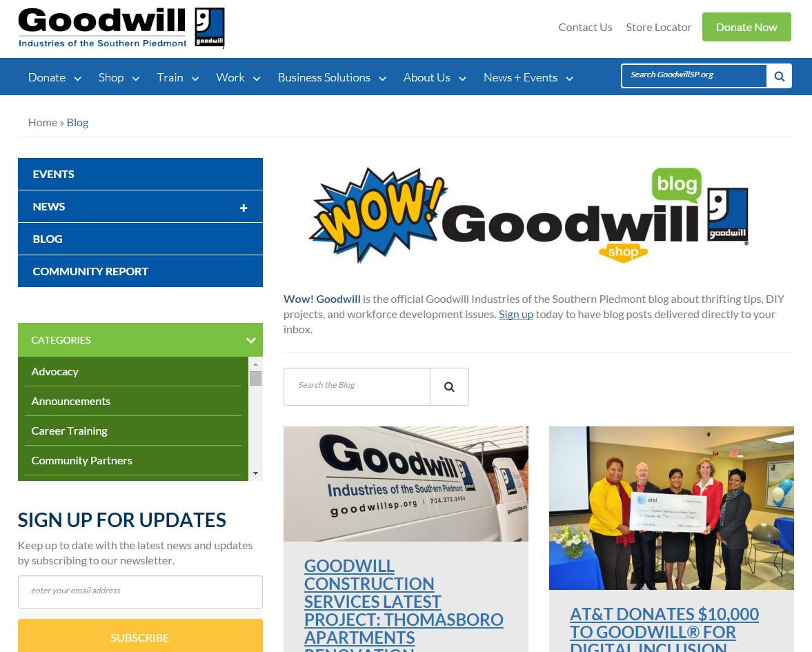 Wow! Goodwill?s New Web